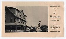 1900s VERMONT HOUSE COTTAGE Old Orchard Beach Maine VINTAGE Brochure RARE Ocean