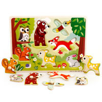 KQ_ Animals Wooden  Colorful Jigsaw Puzzle Educational Toy For Toddler Kids