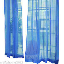 2PCS Sheer Curtain Voile Window Curtains Door tab top Multi color 200cmx100cm CH