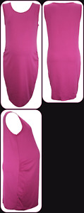 X-Store Maternity Jersey Vest Dress *UK size 16 Pink Fuchsia BRAND NEW pregnancy