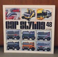 Car Styling Magazine Book #48 1984, Peugeot, Toyota MR2, Daihatsu, Aerodynamics
