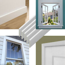 UPVC Plastic Trim 1m Long- White Architrave Skirting Board Window Finishing Trim