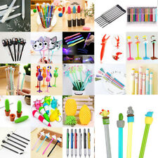Creative Lots Cute Cactus Gel Ink Pen Ballpoint Writing Office School Supply
