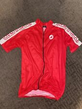 Men's Castelli Cycling Jersey Size XL Scorpion Red White