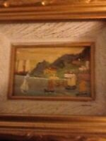 Miniature Framed Vintage Seascape Painting Signed And Dated 1972