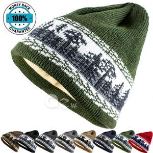 Mens Womens Unisex Winter Warm Slouchy Fleece Beanie Hat Skull Ski Knit Cap New