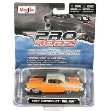 Maisto Pro RodZ 1957 '57 Chevrolet Chevy Bel Air Car Orange Die Cast 1/64 Scale