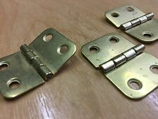 25mm FLAT 4 HOLE BRASS PLATED HINGE (PACK OF 3) POST FREE