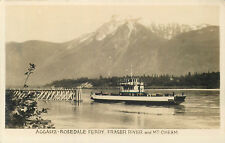 BRITISH COLUMBIA, CANADA AGGASIZ-ROSEDALE FERRY FRASER RIVER REAL PHOTO POSTCARD