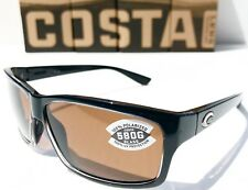 NEW* Costa CUT Black polished POLARIZED Copper 580P Glass lens Sunglass UT 47