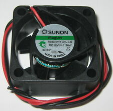 "Sunon 40 mm Square 12 V DC High Speed Fan - 8200 RPM - MB40201VX - 11"" Long Lead"