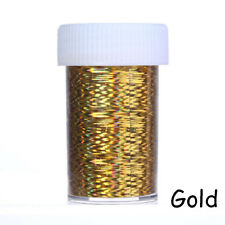 2 Rolls Gold Silver Holographic Nail Foil Manicure Nail Art Transfer Sticker