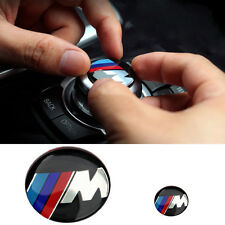 M Color Sports Multimedia Control & Volume Button 2 Size Sticker Badge For BMW