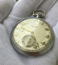 Rare Zenith Chronometre Pocket Watch Subdial 17-28-1