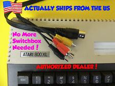 Composite Video & Audio TV DIN Cable For Atari 8 Bit Computer 800XL XE