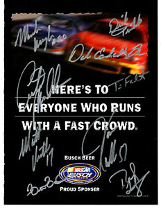 NASCAR 2000 Busch authentic autographed photo NO RESERVE