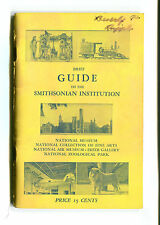 Vintage Guide Book SMITHSONIAN INSTITUTION  8th Ed Washigton DC Zoo Museums