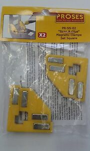 Snap&Glue Set Square (2 Magnetic Clamps/8 Magnets) - Proses PR-SS-02