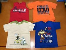 Lot of 4 Baby Boys Toddlers Place Ecko Orange Blue Beige Red T-Shirts Size 3T
