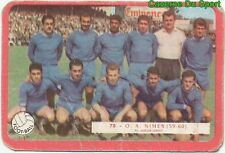 078 EQUIPE TEAM OLYMPIQUE DE NIMES FOOTBALL CARTE MIROIR SPRINT 1960's RARE