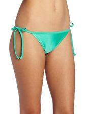 Roxy Swimwear Bikini Bottom Sz M Green Binded Lowrider Side Tie Swim Bottom