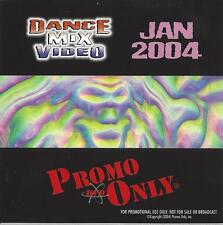 PROMO ONLY- New, DVD Dance Mix VIDEO Jan.-2004, Madonna,Janet Jackson,Queen