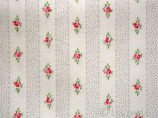 0,5 m Stoff Ökotex ♥ Baumwolle Rosen Streifen weiß Westfalenstoff  Prinzessin