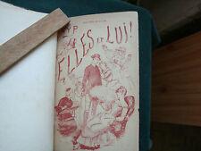 GYP ELLES ET LUI 1886 RELIURE DE PIERSON ex libris BOURLON DE ROUVRE