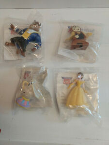 1991 Burger King Kids Club Disney Beauty and the Beast Set of 4 Brand New-Sealed