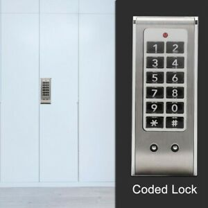 Digit Code Combination Cabinet Silver Convenient Password Security Coded Lock UK