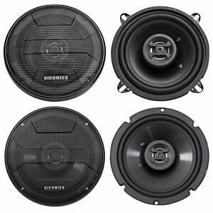 """5.25"""" + 6.5"""" Hifonics Front + Rear Speaker Replacement For 02-05 Hyundai Accent"""