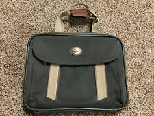 AMERICAN TOURISTER Kenya Carry On Boarding Bag Messenger - Green Vintage Luggage
