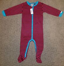 NWT Coccoli Baby Boys 9M Striped Stretchy Coverall