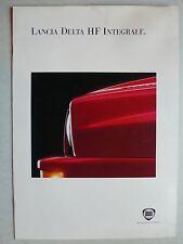 PROSPEKT LANCIA DELTA HF INTEGRALE 16v 210 CV, circa 1992, 10 pagine, 34x24 cm grande