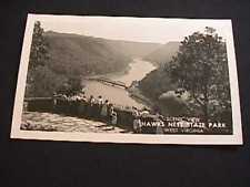 SCENIC VIEW HAWKS NEST STATE PARK WEST VIRGINIA REAL PHOTO POSTCARD