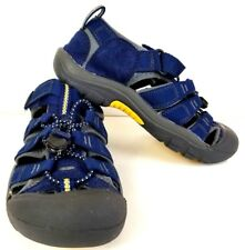 KEEN Newport Blue Yellow Sandals Water Shoes Beach Boys Youth US 3 EUR 35 Z509