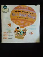 Vintage Walt Disney It's A Small World Song Book And Record Original 33 1/2