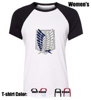 Attack on Titan Cosplay Design Tees Womens Ladies Girl's Cotton T-Shirt Tops