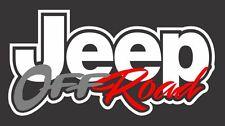 Jeep Off Road Vinyl Decal Sticker Logo Wrangler Grand Cherokee Renegade