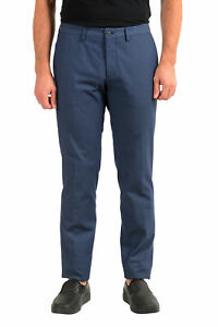 "Hugo Boss Men's ""Wylson-W"" Blue Geometric Print Casual Pants US 32R IT 48"