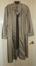 Women's Dressy Trench Coat w/ Removable Liner Size 13/14 Shiny Taupe CAREER