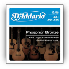 4 X D'Addario EJ16 String Set Daddario Phosphor Acoustic Guitar Strings 12 - 53