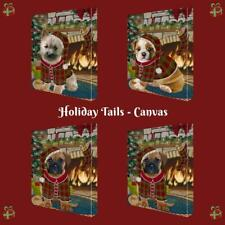 Christmas Stocking Hung Dog Cat Pet Photo Canvas Wall Décor 16x20 In