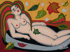 JACQUELINE DITT - Indian Summer A4 DRUCK n.Gemälde Bild Erotik girl Bilder Akt
