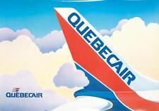 Original Vintage Poster Quebecair Travel Canada Aviation 1980's