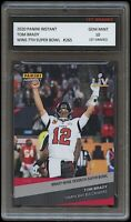 TOM BRADY 2020-21 PANINI INSTANT 7TH SUPER BOWL CARD 1ST GRADED 10 BUCCANEERS