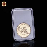 WR Moneda de metal plateado en oro Elvis Presley Moneda de artesanía en metal