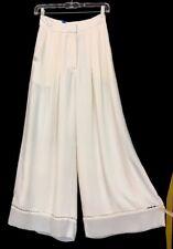Zimmerman pants ivory palazzo chiffon size 0