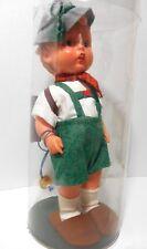 Vintage Goebel Hummel Peter Boy Vinyl Doll With Original Hat Shoes Back Pack