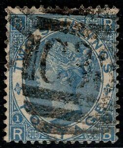 1867 QV SG118 Z55 Dull Blue Plate 1 RB Fine Used Abroad in Callao Peru C38